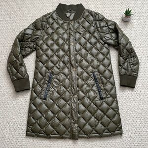 Lucky brand & co olive quilted jacket